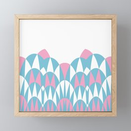 Modern Day Arches Pink Framed Mini Art Print