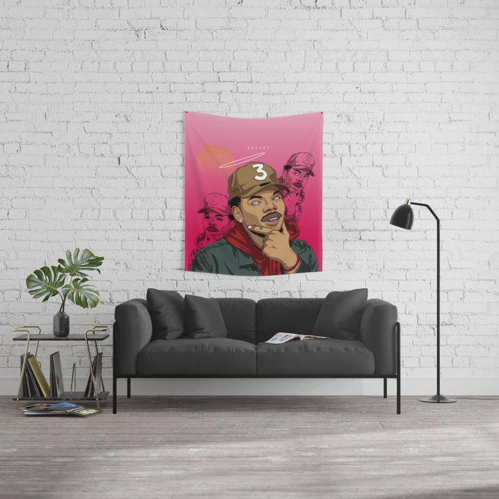 Chance The Rapper by kdxart Wall Tapestry