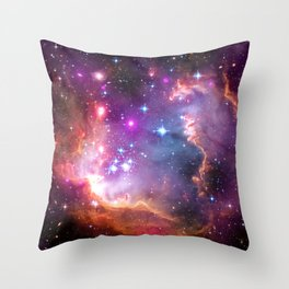 Angelic Galaxy Throw Pillow