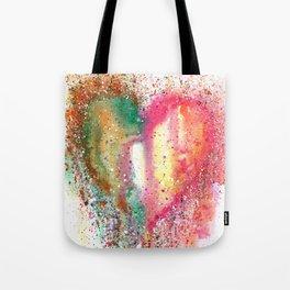 Heart Watercolor Art Tote Bag