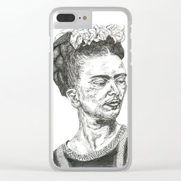 Frida, Not Young Clear iPhone Case