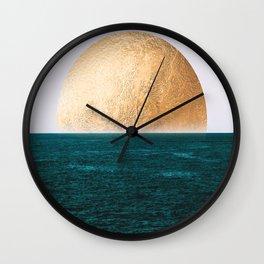 Gold Sunset Wall Clock