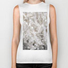 Botanical Gardens II - White Crystals #252 Biker Tank