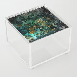 Gold Indigo Malachite Marble Acrylic Box