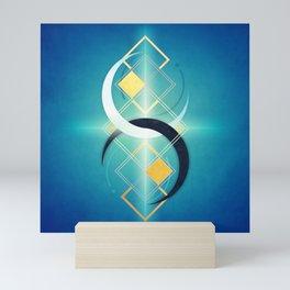 Crescent Moon Double :: Floating Geometry Mini Art Print