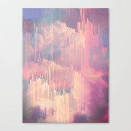 Candy Glitched Sky Canvas Print