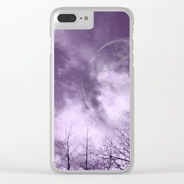 Purple Night  - JUSTART © Clear iPhone Case