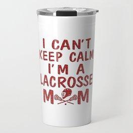 I'M A LACROSSE MOM Travel Mug