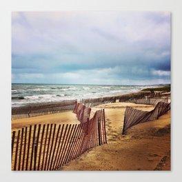 Oval Beach in Autumn Canvas Print