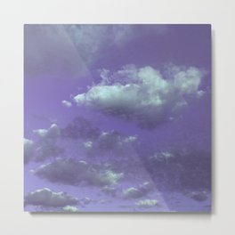 Purple Cloudy Sky Metal Print