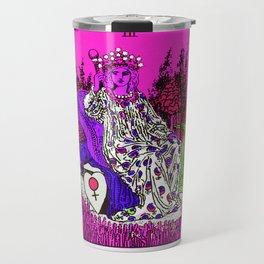 3. The Empress- Neon Dreams Tarot Travel Mug