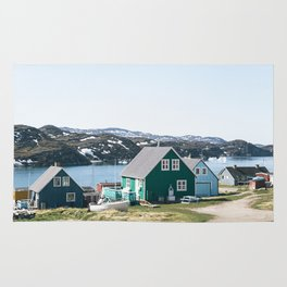 Coloured houses of Greenland Rug