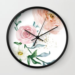 Rose Arrangement No. 1 Wall Clock