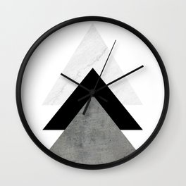 Arrows Monochrome Collage Wall Clock