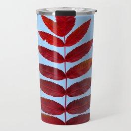 Red Sumac Leaves Travel Mug