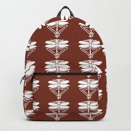 Copper Red Arts and Crafts Dragonflies Backpack