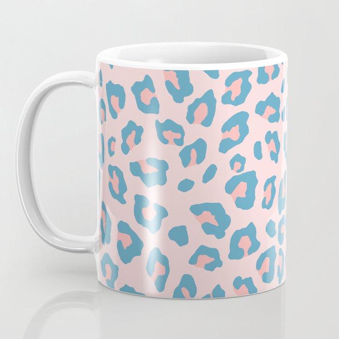 Leopard Print - Peachy Blue Coffee Mug