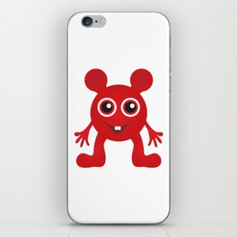 Red Smiley Man iPhone Skin