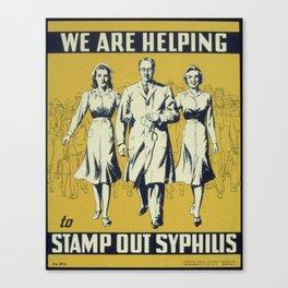 syphilis Canvas Print