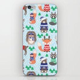 Christmas woodland iPhone Skin