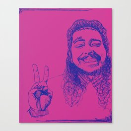 Happy Posty Canvas Print