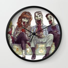 Dead whit children Wall Clock