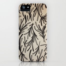 Leaf Branches Print iPhone Case
