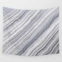 geology Wall Tapestries featuring Grey Marble by Santo Sagese