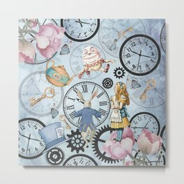Wonderland Time Metal Print