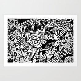 Scribblings Art Print