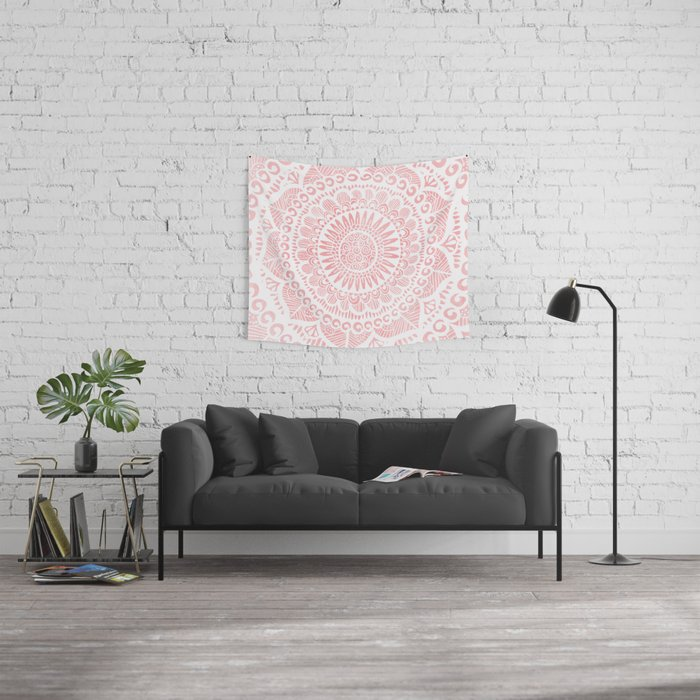 Blush Lace Wall Tapestry