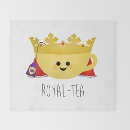 Royal-tea Throw Blanket