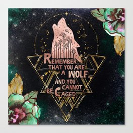 ACOWAR - You Are A Wolf Canvas Print