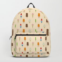 Ice Cream Pattern, Popsicles, Bomb Pops, Cones Backpack