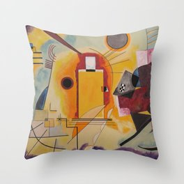 Wassily Study Repro yellow red blue 1925  Throw Pillow