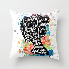 Persuasion - So Beloved Throw Pillow