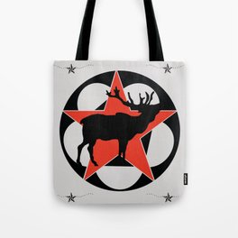 True North Elk Cabin Art Tote Bag