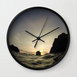 Mermaids Ridge at Sunset Wall Clock