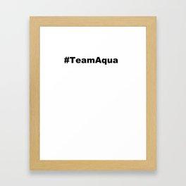 Hashtag Aqua Framed Art Print