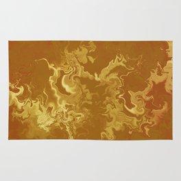 Dragon fire abstract Rug