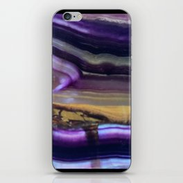 Fluorite from Mexico Slab Slice Crystal Purple iPhone Skin