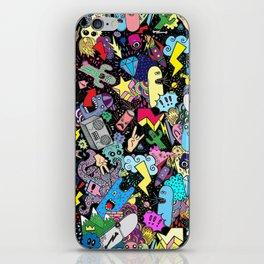Cartoon Graffiti Neon iPhone Skin