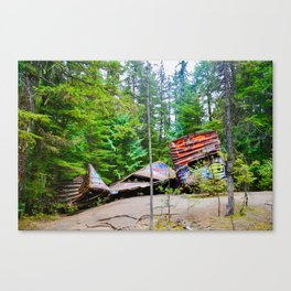 whistler train wreck, 2017 Canvas Print