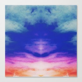 Reflective Tie Dye in the Sky Canvas Print