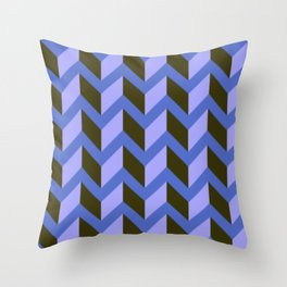 Purple and Black Chevron Pattern Throw Pillow