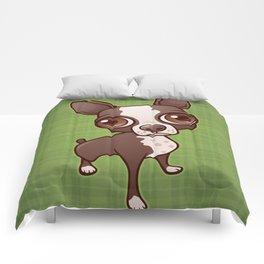 Zippy the Boston Terrier Comforters