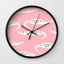Crocodile Pattern Wall Clock