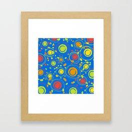 Patio Lantens Blue Framed Art Print