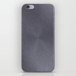 Cool Brushed Metal with a Stamped Design iPhone Skin