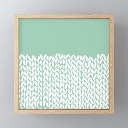 Half Knit Mint Framed Mini Art Print